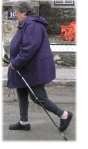 Elvira beim Nordic Walking